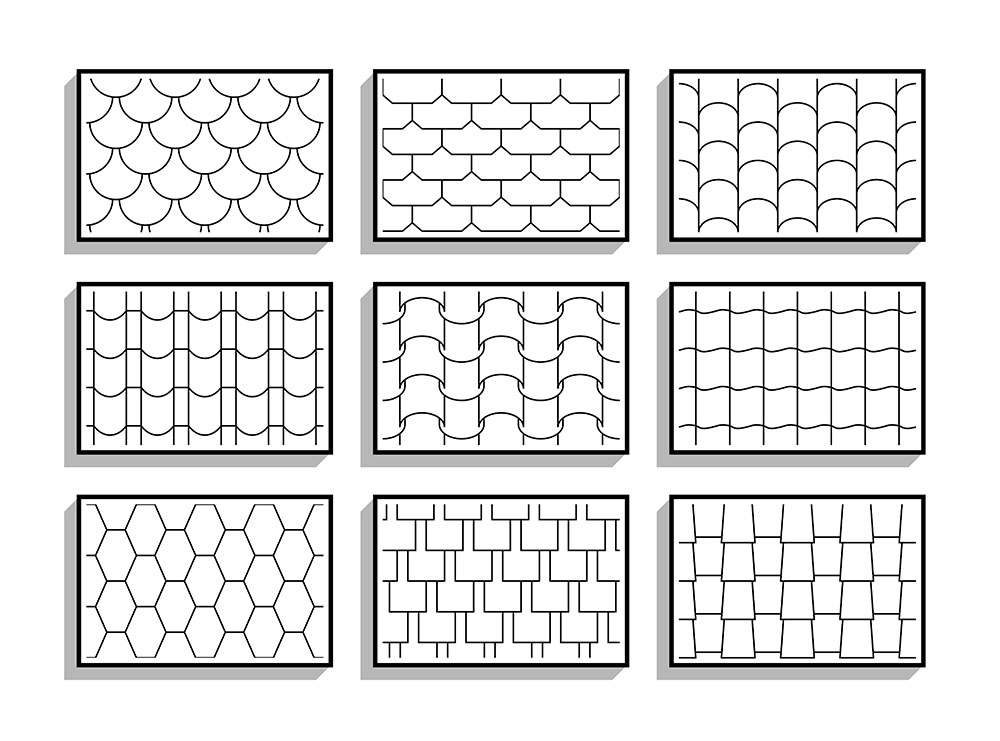 Roofing Material Patterns